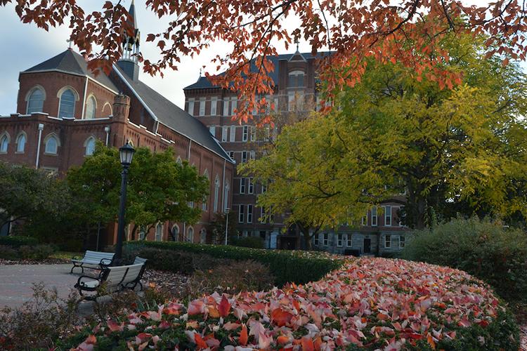 photo of Duquesne University campus during autumn