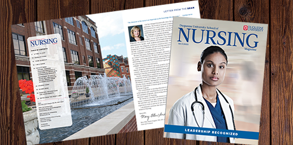 Cover image of Duquesne University School of Nursing Magazine Volume 6