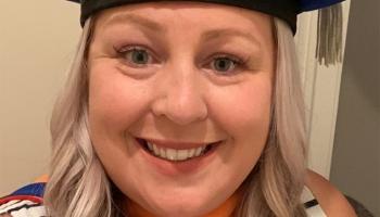 headshot of Katelyn Barley in graduation cap