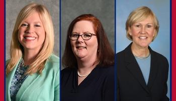 headshots of Dr. Jessica Devido, Dr. Denise Lucas and Dr. Kathy Sekula